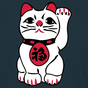 maneki neko - T-skjorte for menn