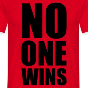 no one wins - T-skjorte for menn