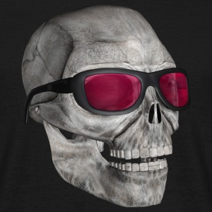 Skull med solglasögon - skull with sunglasses - T-shirt herr