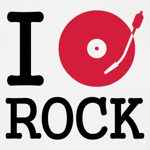 I dj / play / listen to rock - T-shirt herr