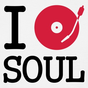 I dj / play / listen to soul - T-shirt herr