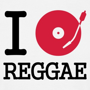 I dj / play / listen to reggae - T-shirt herr