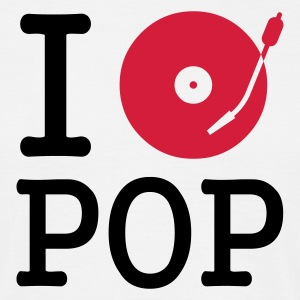 I dj / play / listen to pop - T-shirt herr