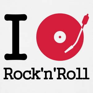 I dj / play / listen to rock & roll - T-shirt herr