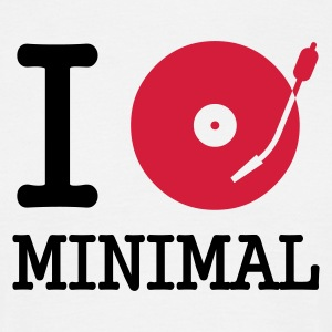I dj / play / listen to minimal - T-shirt herr
