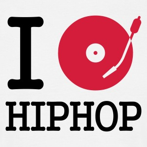 I dj / play / listen to hiphop - T-shirt herr