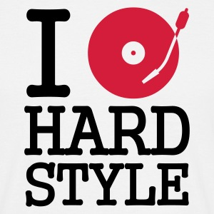 i dj / play / listen to hardstyle - Herre-T-shirt