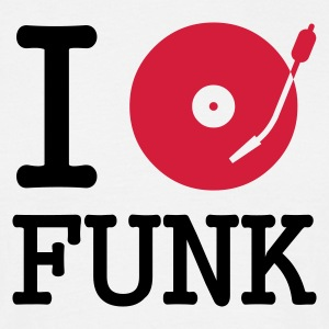 I dj / play / listen to funk - T-skjorte for menn