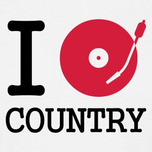 I dj / play / listen to country - T-shirt herr