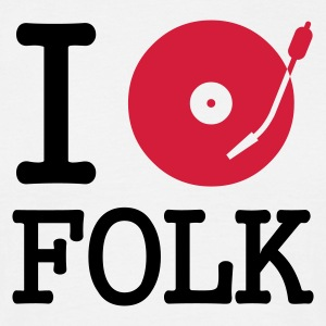 I dj / play / listen to folk - T-skjorte for menn