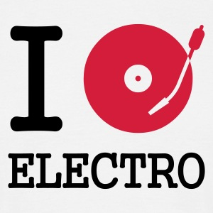 I dj / play / listen to electro - T-shirt herr