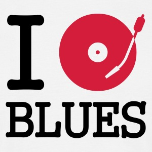 I dj / play / listen to blues - T-shirt herr