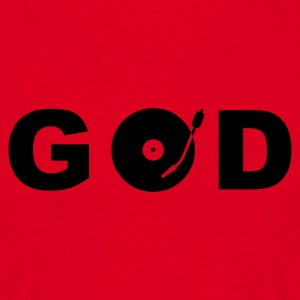 god is a dj - Herre-T-shirt