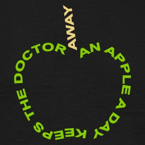 an apple a day keeps the doctor away - T-shirt herr
