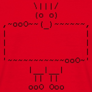ascii art: troll + your text - Mannen T-shirt