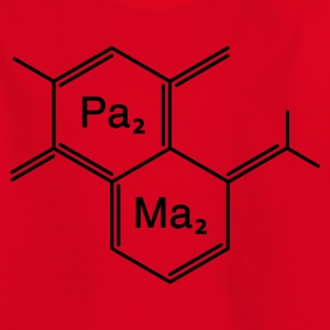chemical papa + mama - Kinderen T-shirt