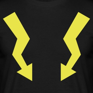 Flashes - Lightning - Männer T-Shirt