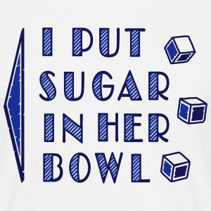 sugar in bowl - for men - Herre-T-shirt