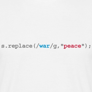 replace war with peace - T-shirt herr
