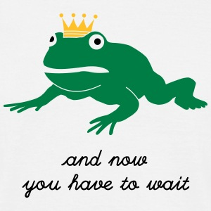 grumpy frog prince - waiting - Men's T-Shirt