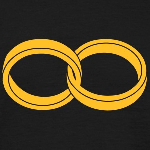 wedding rings - like a Symbol of infinity - Men's T-Shirt