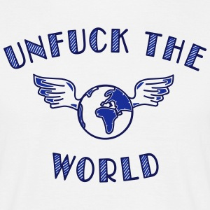 unfuck the world - T-skjorte for menn