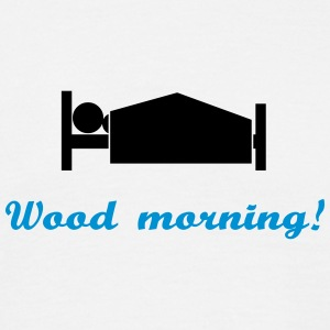 wood morning - T-skjorte for menn