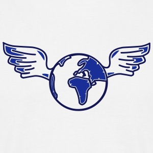 earth with wings - T-shirt herr
