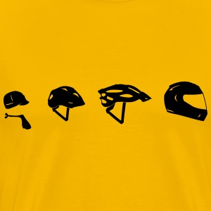 Motorcycle Helmet Evolution T-shirts - Mannen Premium T-shirt