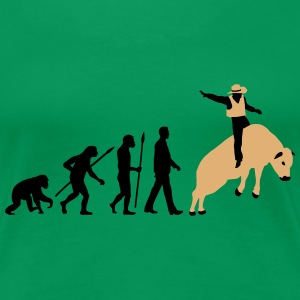 evolution_rodeo_bull_062014_2c T-Shirts - Frauen Premium T-Shirt