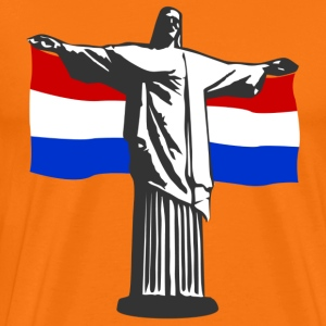 Netherlands Holland Jesus in Rio T-Shirts - Men's Premium T-Shirt