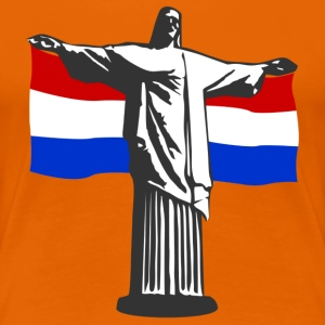 Netherlands Holland Jesus in Rio T-Shirts - Women's Premium T-Shirt
