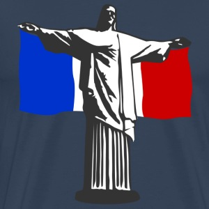 France Jesus in Rio T-Shirts - Men's Premium T-Shirt