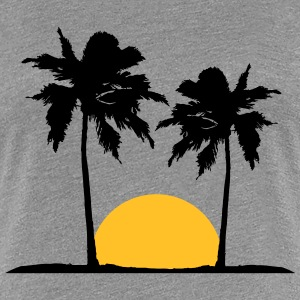 Two palm trees on the beach sun sea T-Shirts - Women's Premium T-Shirt