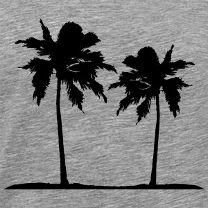 Two palm trees on the beach sun sea T-Shirts - Men's Premium T-Shirt