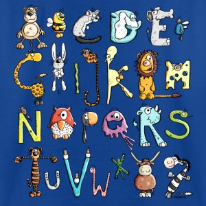 Colorful Animal Alphabet Shirts - Teenage T-shirt