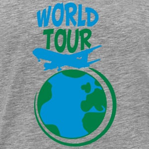 World Tour tur planet earth verden T-skjorter - Premium T-skjorte for menn
