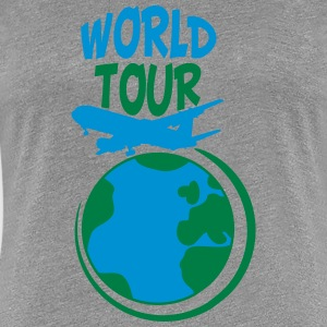 World Tour trip plane earth world T-Shirts - Women's Premium T-Shirt