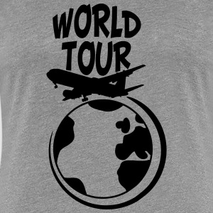 World Tour resa planet jorden världen T-shirts - Premium-T-shirt dam