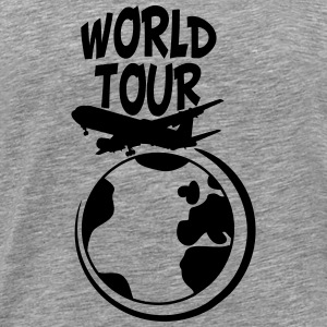 World Tour trip plane earth world T-Shirts - Men's Premium T-Shirt