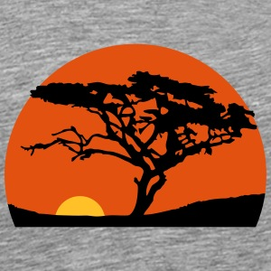 Sundays Africa safari tree savannah wilderness T-Shirts - Men's Premium T-Shirt