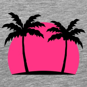 Miami Beach palm beach sea sun Pink T-Shirts - Men's Premium T-Shirt