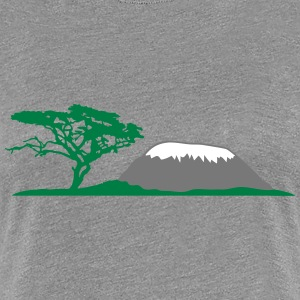 Mt Kilimanjaro Africa safari tree savannah wildern T-Shirts - Women's Premium T-Shirt