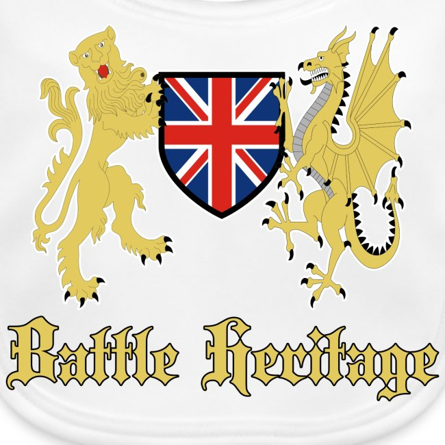 Battle Heritage Lion Dragon Kiddies Bib