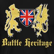 Design ~ Battle Heritage Lion Dragon Mens T-Shirt