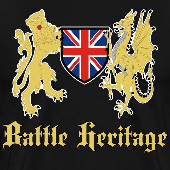 Battle Heritage Lion Dragon Mens T-Shirt