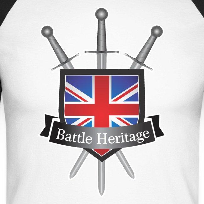 Battle Heritage Logo Men's Long Sleeve Baseball T-Shirt