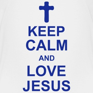 keep_calm_and_love_jesus_g1 T-Shirts - Teenager Premium T-Shirt