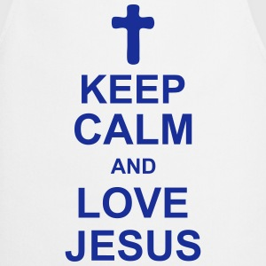 keep_calm_and_love_jesus_g1 Delantales - Delantal de cocina