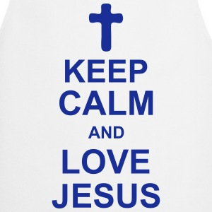 keep_calm_and_love_jesus_g1 Fartuchy - Fartuch kuchenny